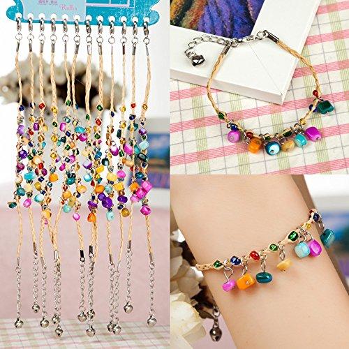 Shell Button Bracelet - Ethnic jewelry wholesale Wishing grass grass love Clover raffia irregular shell buttons shell bracelet