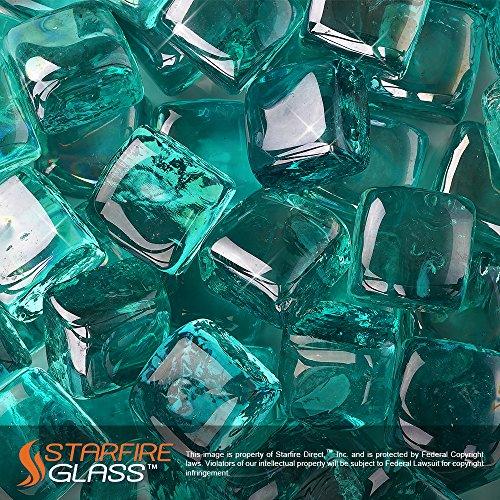 Starfire Glass Fire Cubes Caribbean Reflective