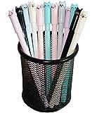 Image for Sencoo Girl Cute Pens Kawaii Pen Cute Cat Pen 0.5 mm Gel Pens Black Ball Point Pens for School Office Supplies (12 cat)
