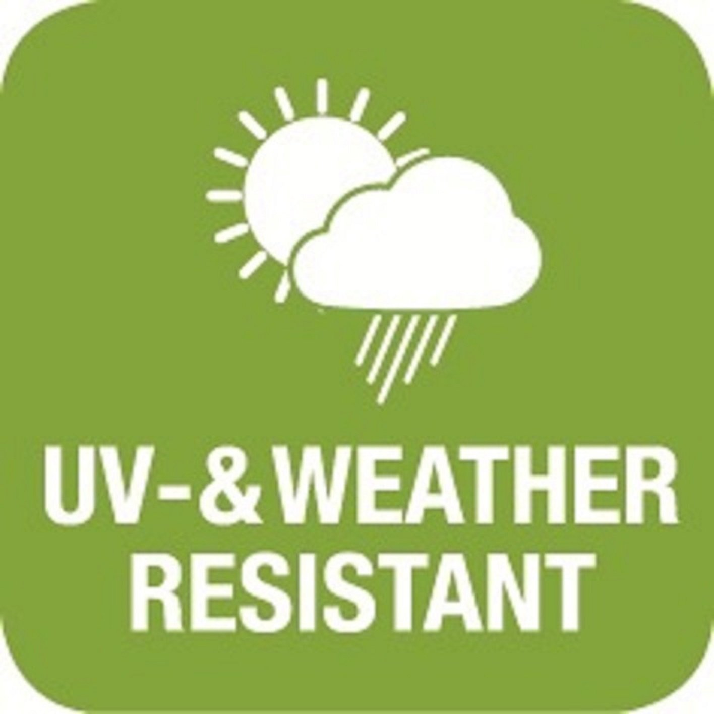 Madison Kurbelschirm Tenerife 300 apfelgrün mit UV-Schutz 40 Plus und Knicker,