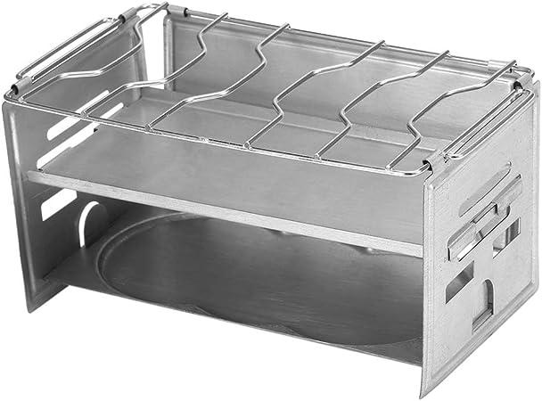 Lixada Parrilla Plegable para Barbacoa del BBQ de la Comida Campestre de Estufa de Madera Hornillos portátiles de Acero Inoxidable