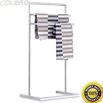 Amazoncom COLIBROX 3 Tier Metal Towel Rack Holder Floor Stand