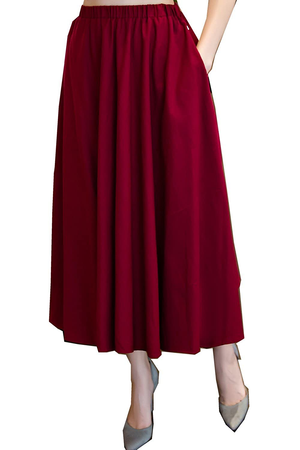 b9eeb83dce Shanghai Story Long Skirt Spring Casual Solid Chinese Style Bohemian Skirts  at Amazon Women's Clothing store: