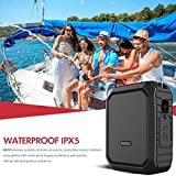 Voice Amplifier with Wired Headset Mic 18W Portable Bluetooth Speaker Megaphone Waterproof IPX5 Loudspeaker Voice Recording Power Bank for Outdoor Activities, Parties, Teaching, Meeting, Training, etc