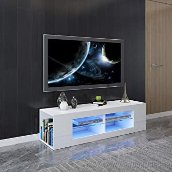 Tengma Modern Minimalist Tv Cabinet Living Room With High Gloss Led Lights Storage Rack Tv Stand Entertainment Center Tv Cabinet Simpleness Creative Furniture Television Stand Coffee Table Furniture Decor