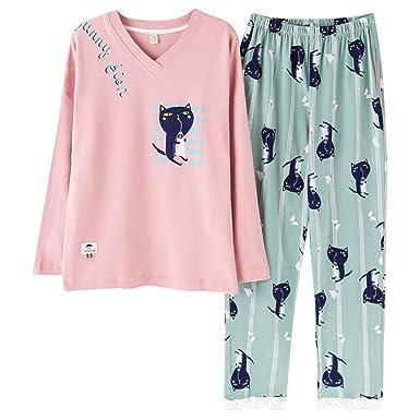 Wsxxnhh El Juego De Algodón del Otoño De Las Mujeres del Pijama ...
