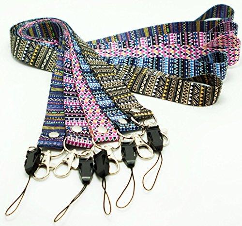 5 PCS Oliveland Tribal Pattern Lanyards Keychain/id Badge/cellphone Holder (mix aztec package) Photo #3