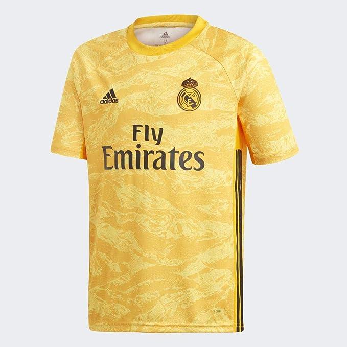 adidas H GK JSY y Camiseta de Equipación Línea Real Madrid Temporada 2017/ 2018, Niños: Amazon.es: Deportes y aire libre