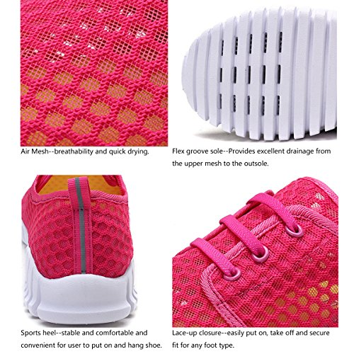 Men Mesh Quick for FCKEE Women and Drying Shoes Aqua Water Pink qFa0UE