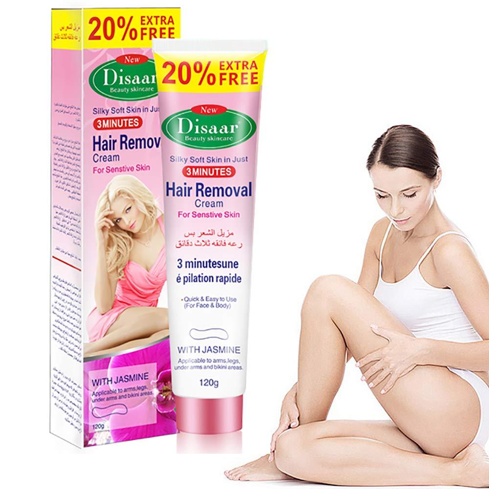 Hair Removal Cream, Premium Depilatory Cream for Women and Men, Painless Flawless Quick Hair Remover Cream for Arm, Bikini, Underarm, Legs, Chest, Hair Inhibitor Cream (Red)