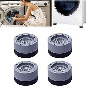 Shock and Noise Cancelling Washing Machine Support, Anti Slip Anti Vibration and Noise reducing Rubber Washing Machine Feet Pads, Washing Machine Stabilizer - Anti-Walk Dryer & Washer Vibration Pads (4PCS)