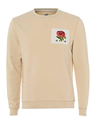 219400da8f6e Kent   Curwen Mens Rose Embroidered 1926 Sweatshirt XXL Cartridge Off White