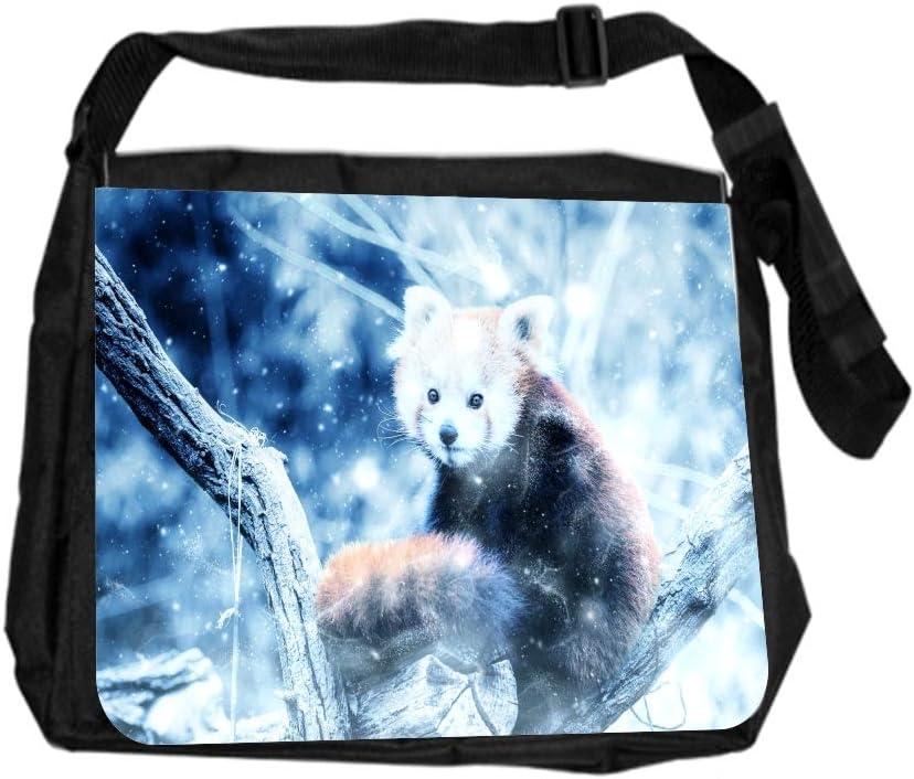 Panda Whimsical Cross Body Shoulder Messenger Laptop Bag