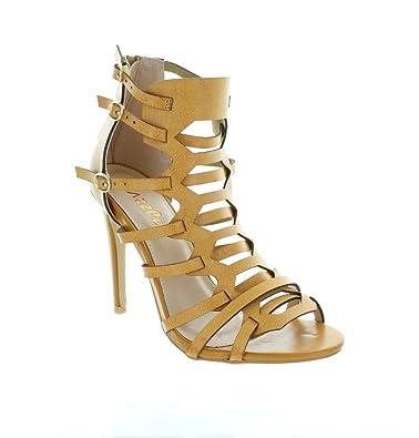 3acb40265f7c Urban Heels Women S LONDON-24 High Heel Sandal Pump Shoes