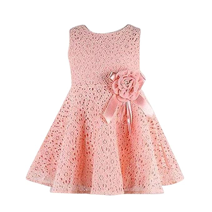 015daf74ee2d2 Transer Girls Princess Dress, Baby Floral Dress 0-6 Years Girls Clothes For  Kids Christmas Party Dress With Flowers Decorated Sleeveless Swing Dresses  ...