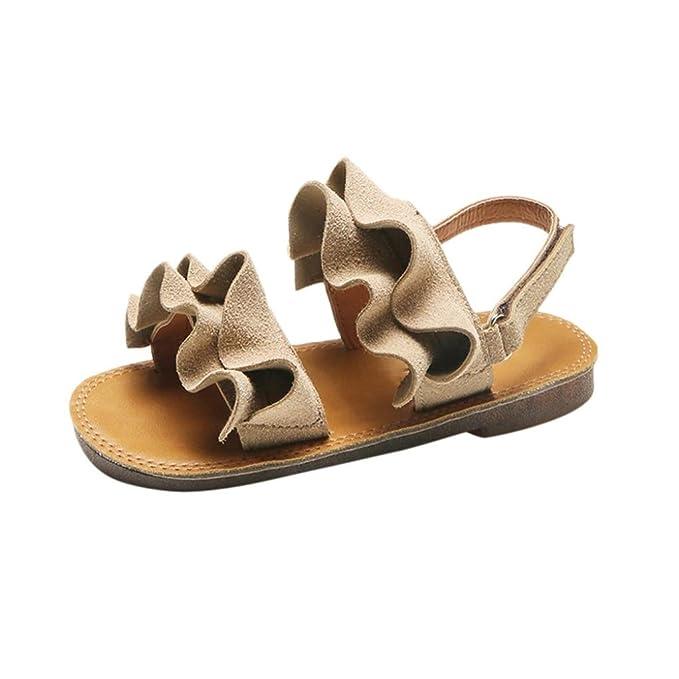 LiucheHD Scarpine Neonato Appena Nati dei Sandali del Bambino Scarpette da  Spiaggia Scarpe pieghettate  Amazon.it  Abbigliamento aac65088c01