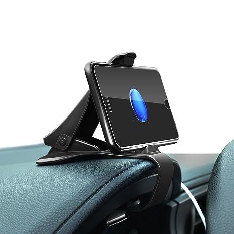 Soporte para Smartphone de Coche, YOHOOLYO Pinza para Sujetar Teléfono Coche Soporte Universal Móvil Visión