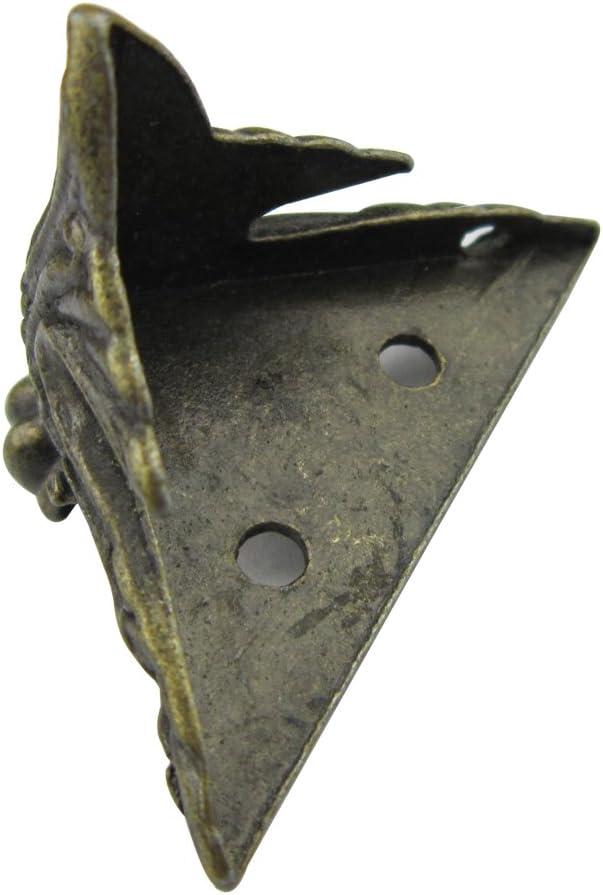 30mm mit Schrauben Paor 8 Pack Antique Zink Alloy Bronze Corner Dekorative M/öbel Ecke f/ür Holz Box Shelves Tisch Beine 40