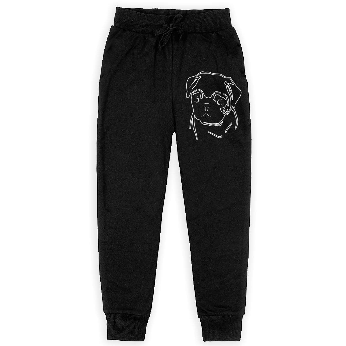 Bing4Bing Pug Dog Teenagers Cotton Sweatpants Comfortable Joggers Pants Active Pants