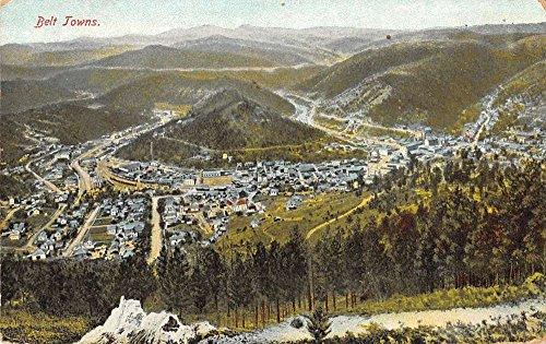 Belt Towns South Dakota Birdseye View Of City Scenic Antique Postcard K21184