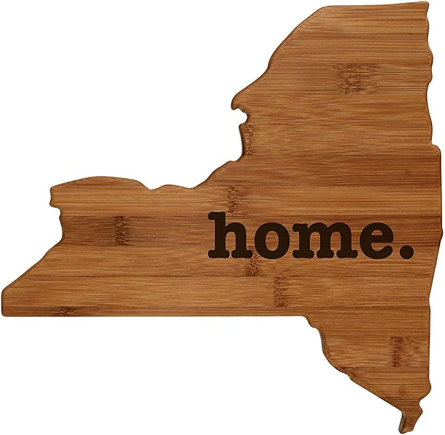 New York Shaped Bamboo Wood Cutting Board Engraved home. Personalized For New Family Home Housewarming Wedding Moving Gift