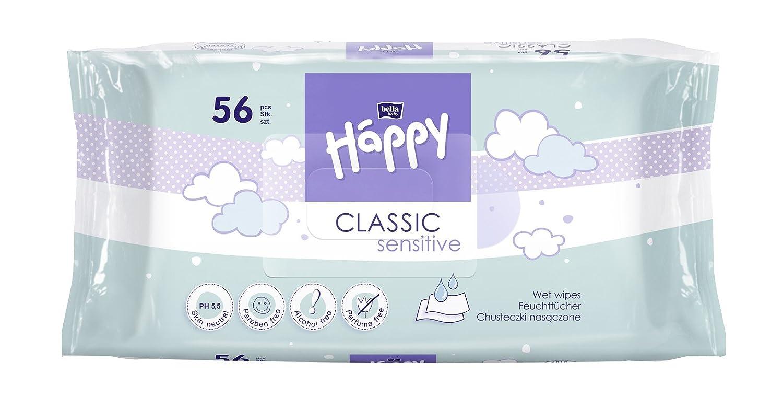 Bella Baby Happy Classic Feuchttücher Sensitive, 56 Stück 56 Stück BB-062-WS56-004