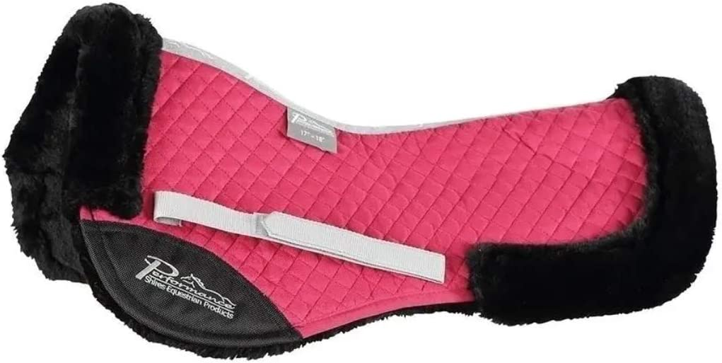 Shires Performance Suede Half Pad Raspberry Small 15-16.5