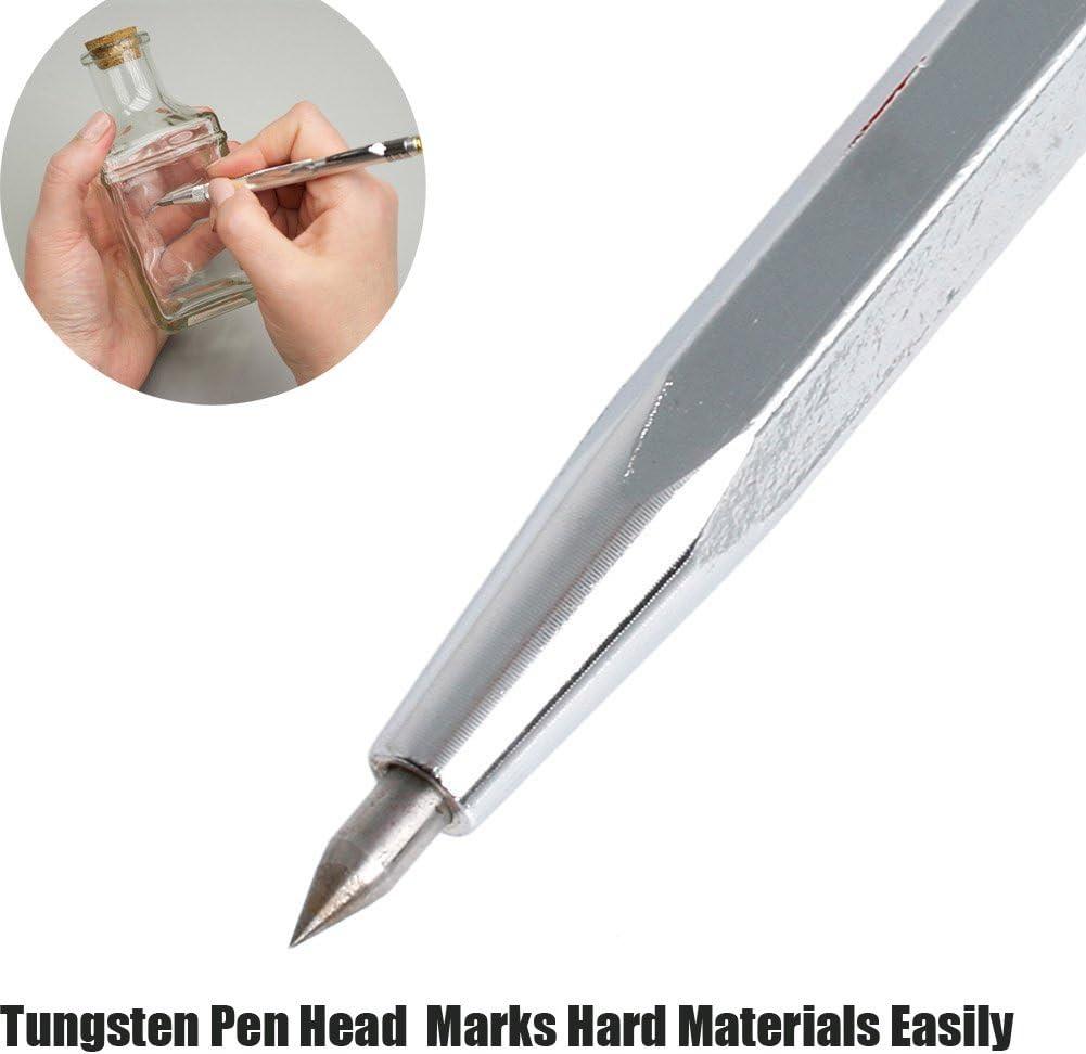 New High Quality Sharp Tungsten Steel Tip Scriber Clip Pen Ceramics Glass   L~~