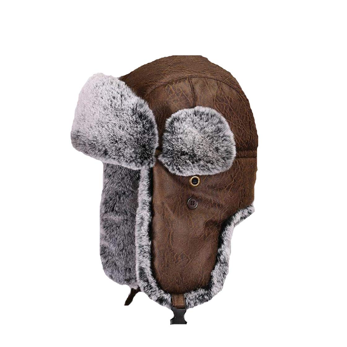 Winter Thicken Men Bomber Hats Warm Thermal Windproof Cap Hat