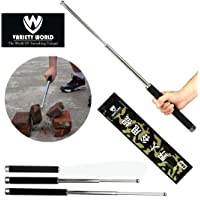 Variety World Self Defence Tactical Rod (Heavy Metal and Extendable),1 Travel Bag Ideal for Strolling, Walking Dog and Camping