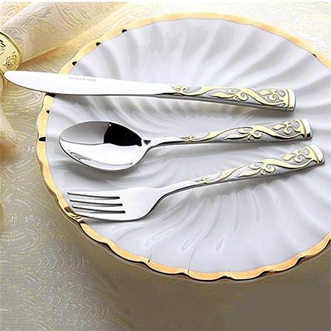 Cuchillo y tenedor occidentales de acero inoxidable para el ...