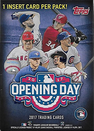 2017 Topps Opening Day Baseball Series Unopened Blaster Box with 11 Packs of 7 Cards Possible Autographs and Used Relics (Unopened Box Baseball)