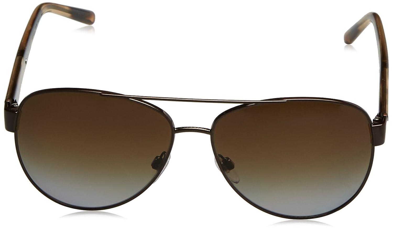 06657a6edb9 Amazon.com  Burberry Women s BE3084 Sunglasses Brushed Brown Polar Brown  Gradient 60mm  Burberry  Clothing