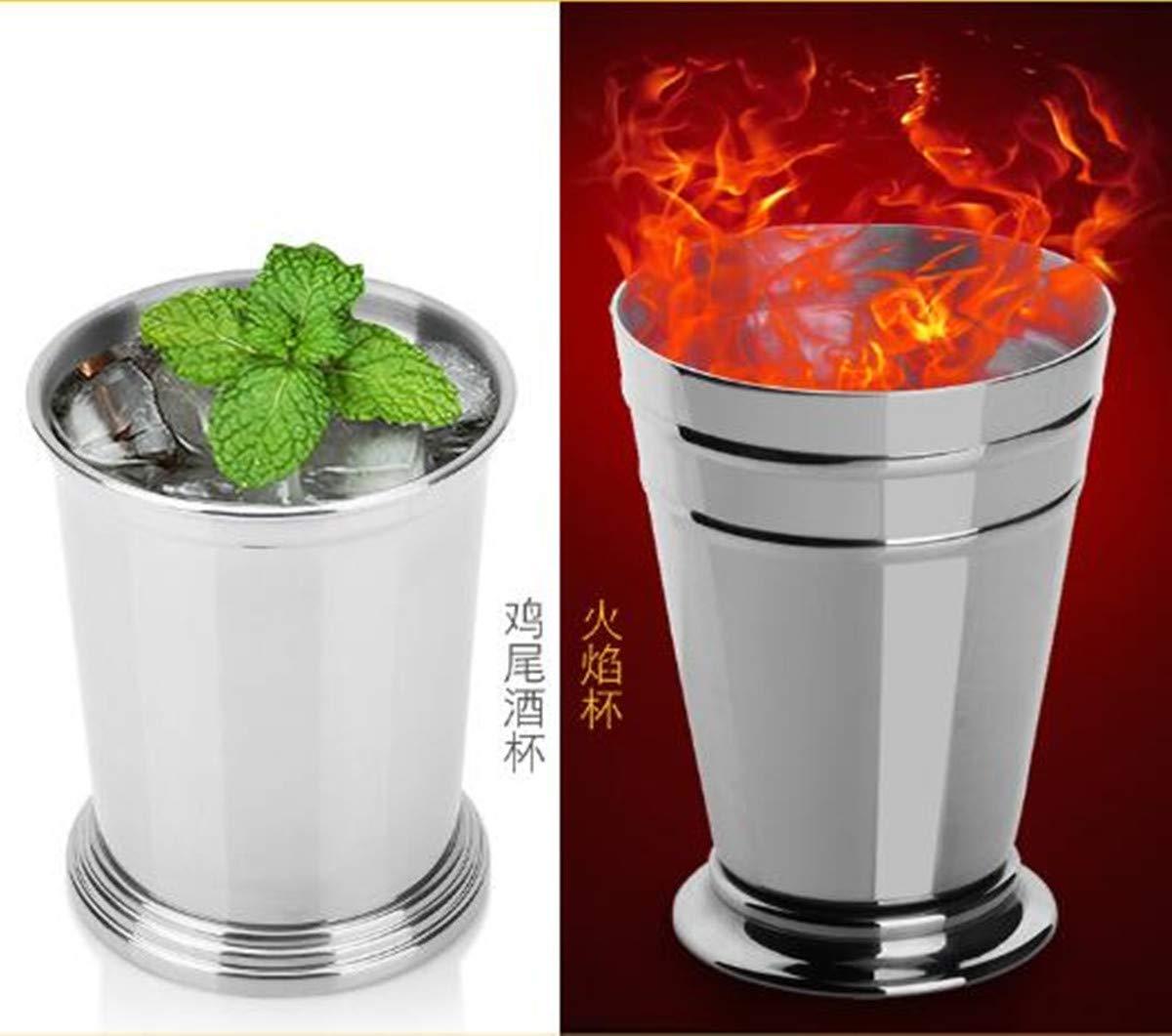 Tasse à cocktail en acier inoxydable 400 ml - Menthe vintage Julep Mule de Moscow Argenté