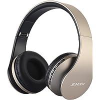 JIUHUFH Auriculares Bluetooth con micrófono Incorporado/Reproductor de MP3/Radio FM/Modo con Cable para PC/Teléfonos…