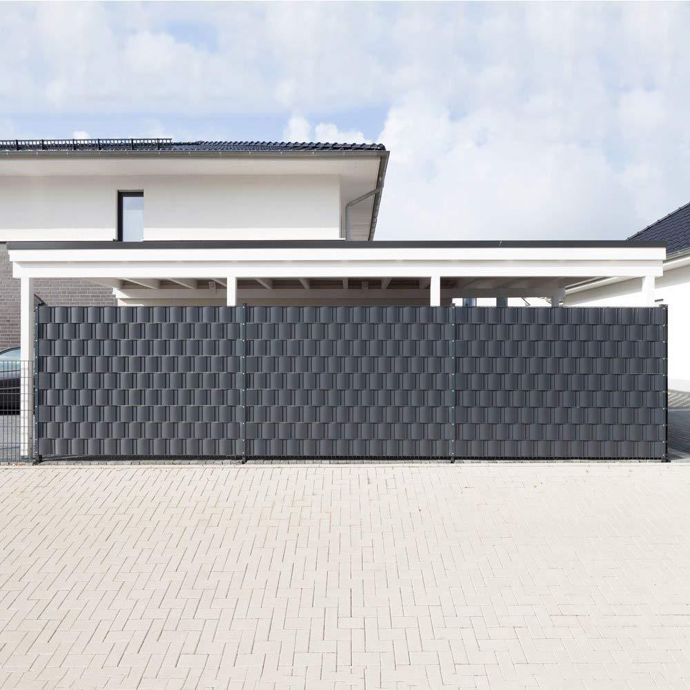 Froadp 10 St/ück Hart PVC Sichtschutzstreifen 2,5m x 19cm Sichtschutz Windschutz Garten f/ür Doppelstabmattenzaun Zaun Zaunsichtschutz Anthrazit