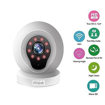 Ithink Q2 cámara de vigilancia sin cable para vigilanciar el bebé y protestar la seguridad doméstica