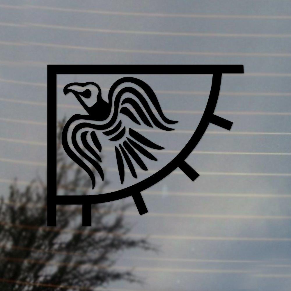Amazoncom Odins Raven Banner Vikings Flag Vinyl Decal Black - Back window stickers for trucksamazoncom ragnar lothbrok vikings rear window decal graphic