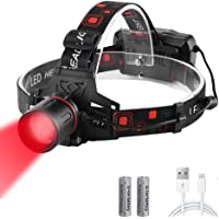 WESLITE Led-hoofdlamp, 1000 lumen, extreem helder, XML-T6, oplaadbaar, rood licht, waterdicht, zoombaar, Outerdo…