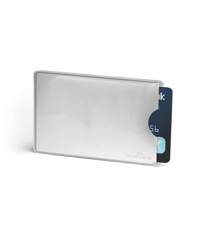 Durable 230958 Porte-cartes protection antiRFID en plastique souple pour 8 cartes format CB Noir