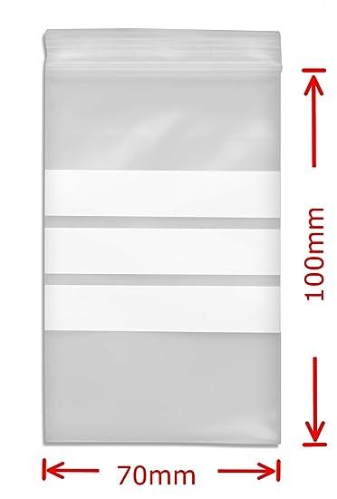100 Tütchen Polybeutel 70 x 100 Label Schreibfeld Druckverschlussbeutel Ziptüten