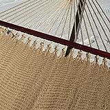 Caribbean Hammocks Soft-Spun Polyester Double Hammock, 48'' W, Tan