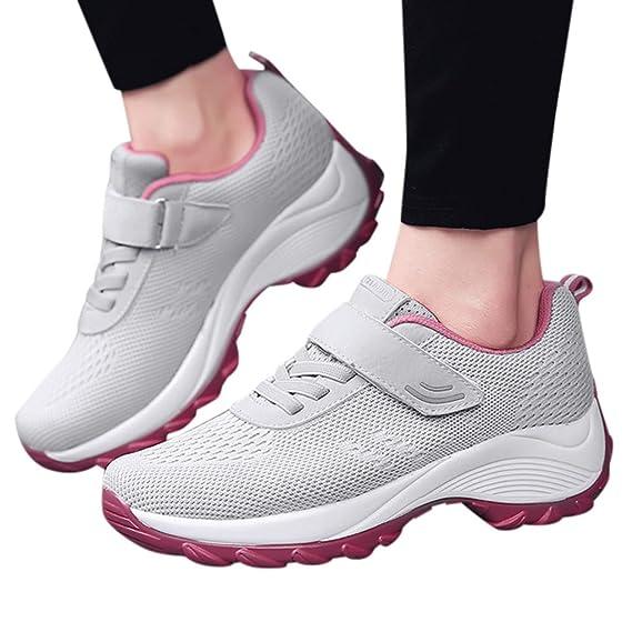 Luckycat Mujer Zapatillas de Deporte Cuña Zapatos para Correr ...