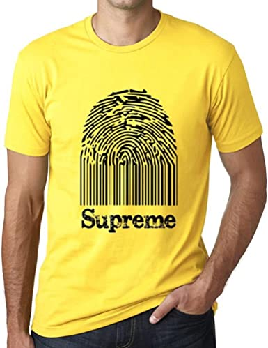 One in the City Supreme Fingerprint, Camisetas Hombre, Camiseta Amarilla, Camiseta Regalo: Amazon.es: Ropa y accesorios