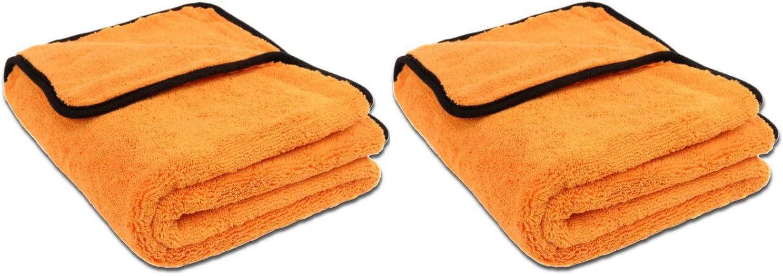 Liquid Elements 2 Stück Set Orange Baby Xl Mikrofaser Trockentuch 90 X 60 Cm Extra Großes Trockentuch Für Die Schonende Fahrzeugpflege Auto