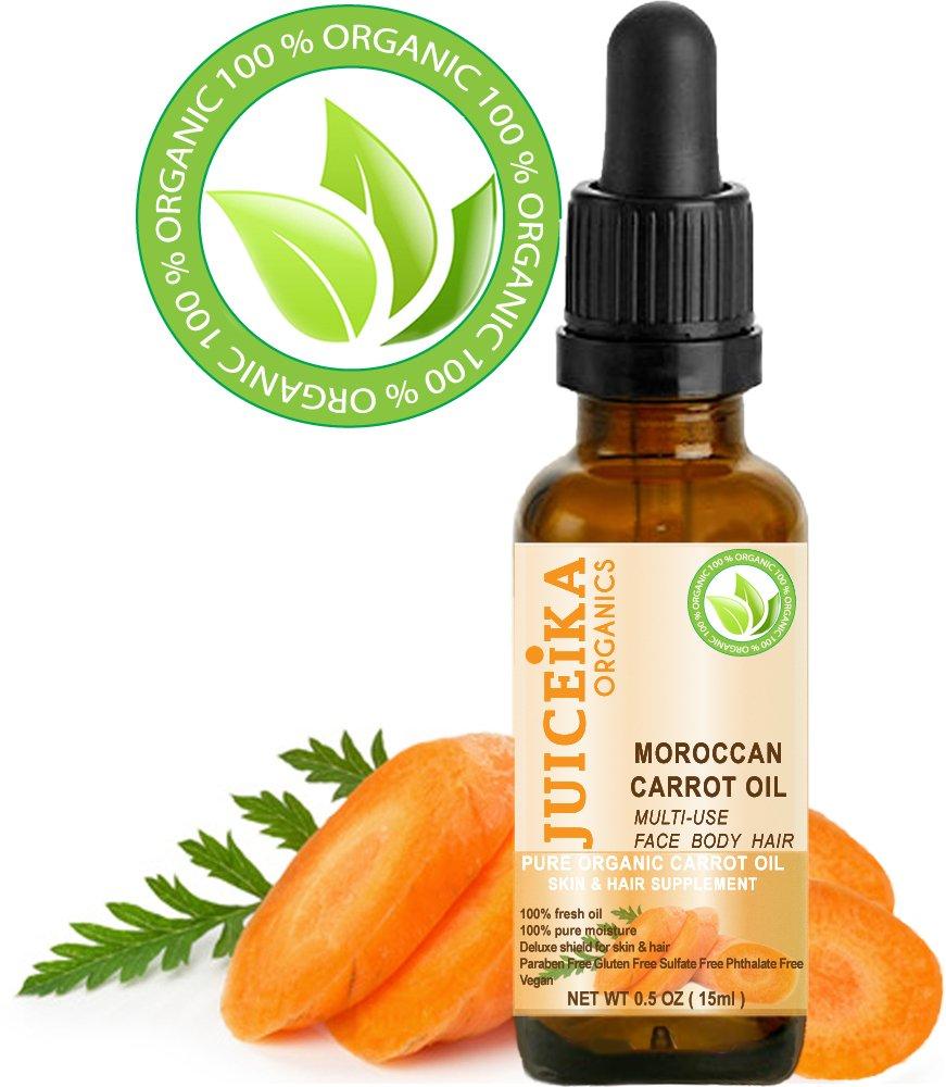 Zanahoria Aceite Orgánico. 100% fresco aceite, 100% Pure la humedad. Multiusos. Suplemento de piel y el pelo.: Amazon.es: Belleza