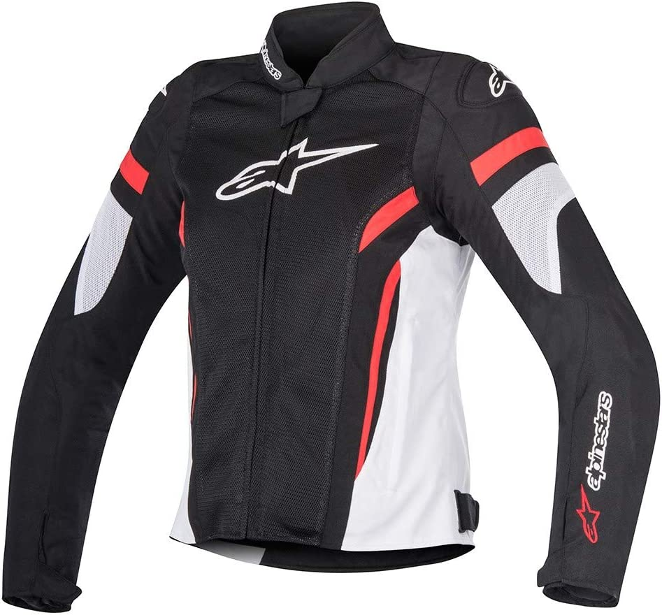 Alpinestars Chaqueta moto Stella T-gp Plus R V2 Jacket Black White Red, Negro/Blanco/Rojo, S