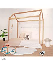 Diacoro Cama Infantil Montessori para colchón de 70 x 140 en Madera de Pino Barnizado con instalación fácil ya Que Esta Cama Montessori Viene prácticamente montada Lista para ser Utilizada.