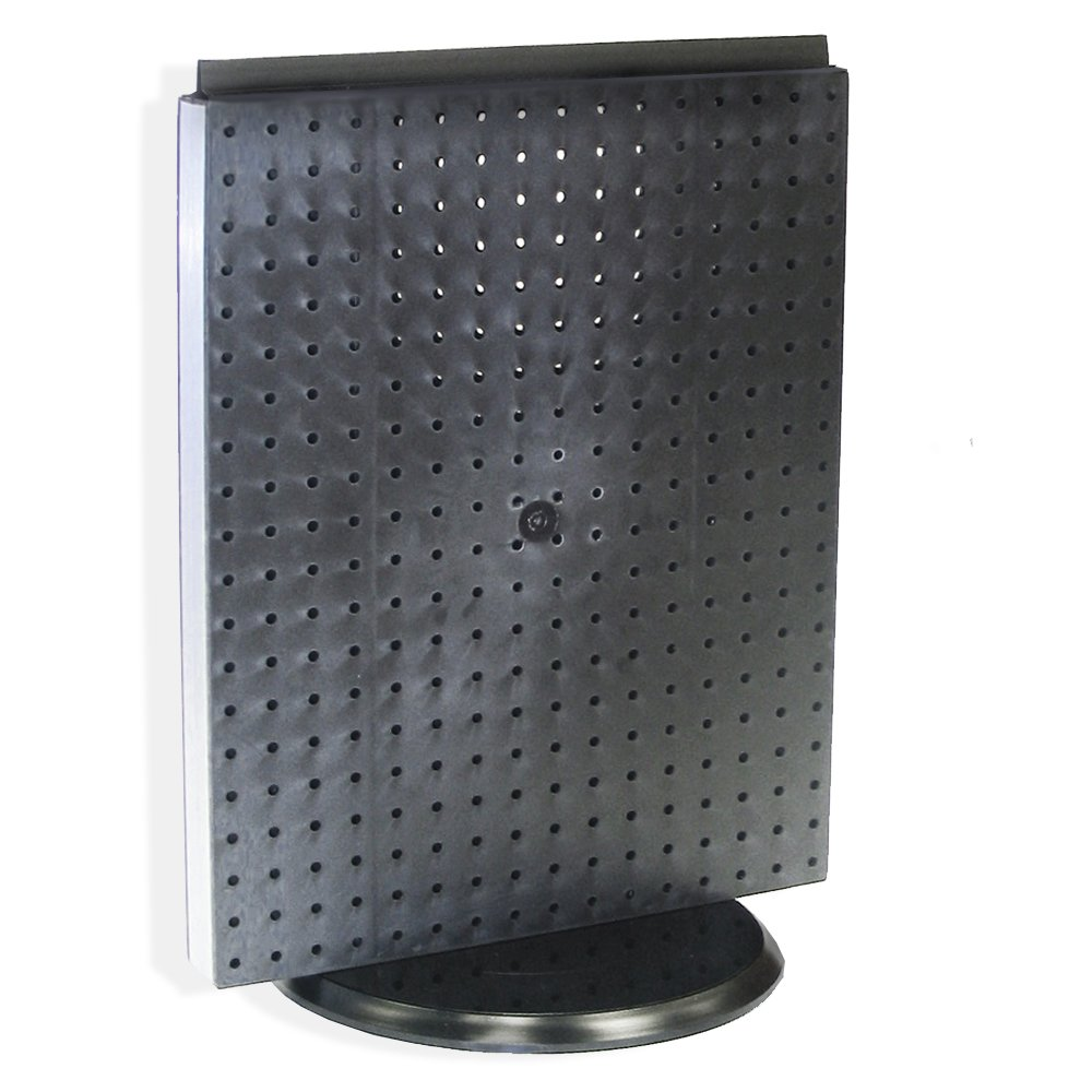 Azar 700500-BLK Pegboard Counter Display, Black Solid Pegboard