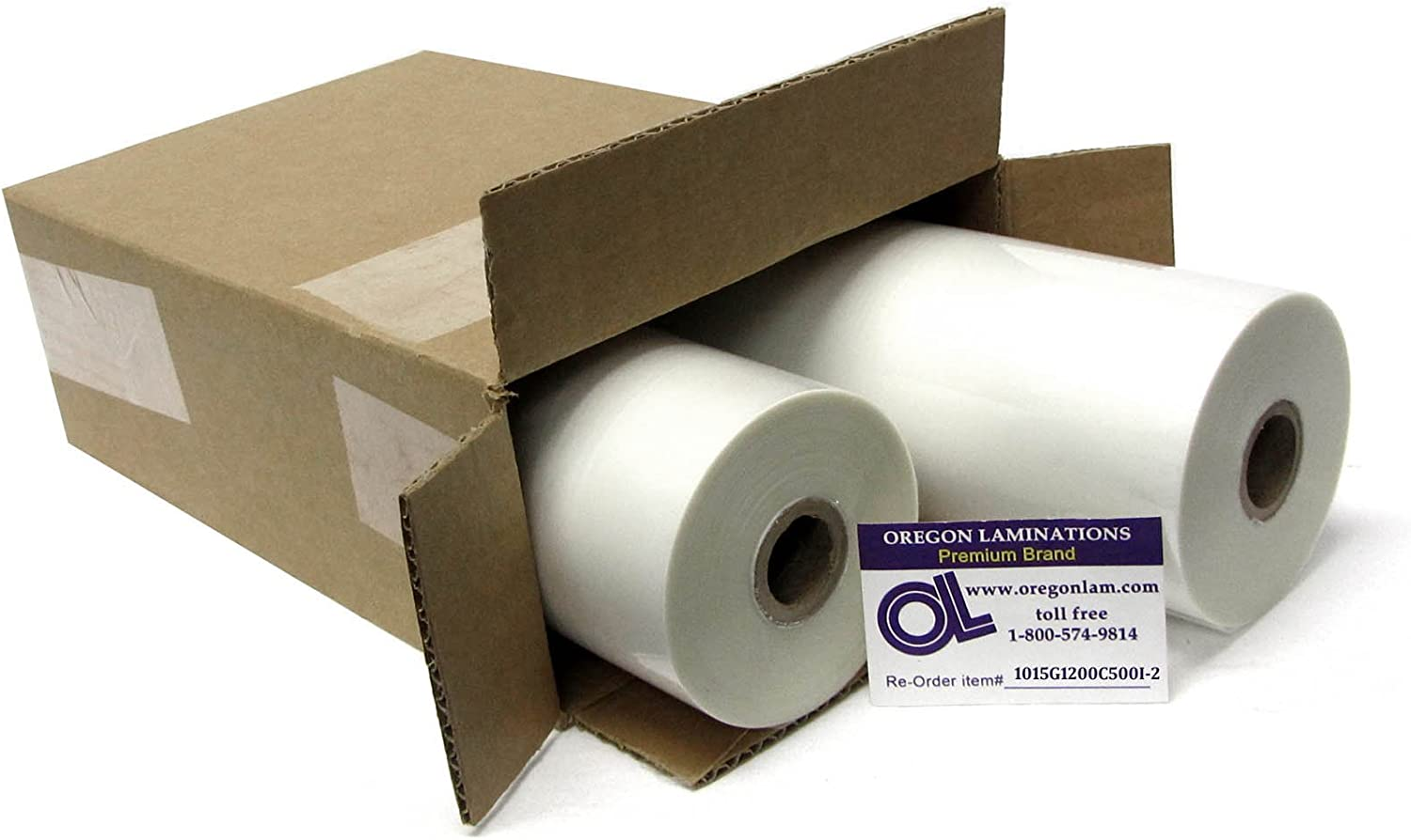 "1.5 mil 12"" x 500' Clear School Laminating Film 2 Pack 1"" Core w/ Laminator Webbing Card 616u2kArtTLSL1500_"